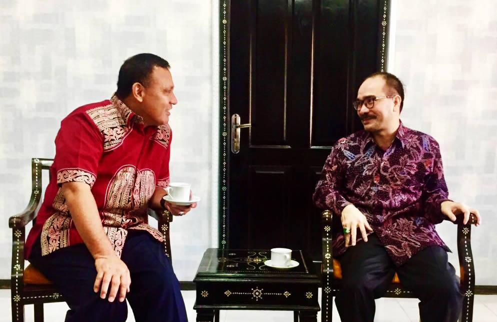 Firman Jaya dan Pimpinan KPK